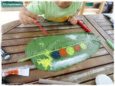 Painting on leaves - love it!