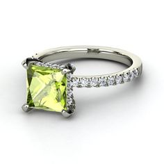 Peridot engagement ring- if you were born in August