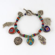 Charm Bracelet by Valerie and Benny Aldrich - Garland's Indian Jewelry. $1,690