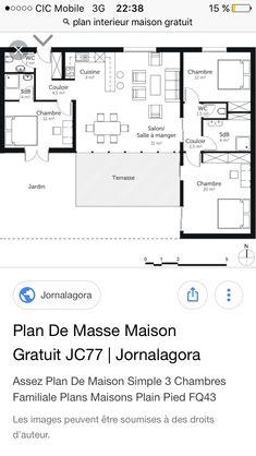 Bon FR U003e Plan Maison Contemporaine Plain Pied De Type 6. | Plans De Maisons |  Pinterest | Construction And House