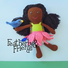 Tessa - Big Sister Doll in Fairy Costume - Crochet Pattern by Alicia Moore of Featherby & Friends
