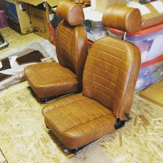 From Gerry Geil's 1977 MGB project car: Just received the interior kit for my '77 MGB. I'm not any kind of an upholsterer, but this was easy. The hardest part was getting the foam parts out of the shrink wrap. Beautiful finished, the seats look really good.