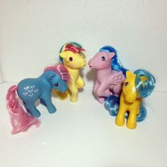 Vintage My Little Pony 1983 Lot of 4 Dots Bows Birds Ducks Hasbro G1 #Mylittlepony