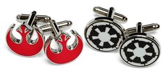 Imperial Empire and Rebel Alliance Star Wars Cufflinks