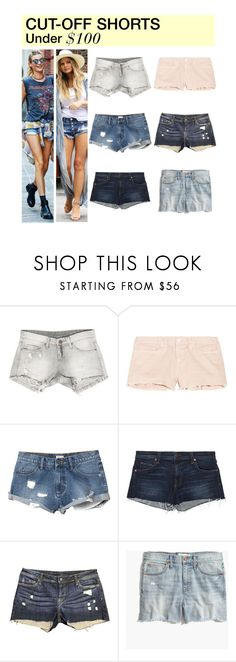 """Under $100: Cut-Off Shorts"" by polyvore-editorial ❤ liked on Polyvore featuring Sans Souci, J Brand, RVCA, Genetic Denim, Madewell, Olsen, under100 and cutoffshorts"