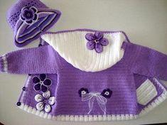 Crochet Woven Sweaters with Hoodie. Crochet woven sweaters for girls. Crochet woven sweaters with hoodie. Beau Crochet, Crochet Girls, Crochet For Kids, Baby Cardigan, Cardigan Bebe, Baby Vest, Crochet Baby Sweaters, Crochet Baby Clothes, Crochet Hoodie