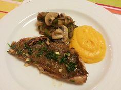 Deliciosa paparoca: Puré de cenoura e legumes salteados