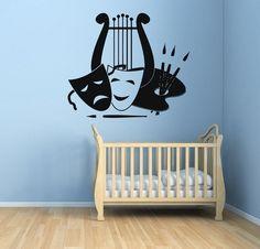 Wall Decals Art Masks Palette Brushes Home Vinyl Sticker Murals Wall Decor KG580