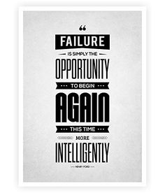 """Failure Is Simply the Opportunity Henry Ford Success Quotes Poster in A3 (16.5"""" X 11.7"""") Lab No. 4 - The Quotography Department http://www.amazon.com/dp/B00TV5SPLG/ref=cm_sw_r_pi_dp_UHg.vb08JTH6P"""