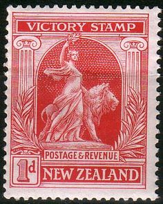 New Zealand 1920 Peace Victory SG 454 Fine Mint SG 454 Scott 166 Other Stamps Here