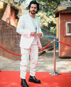 White Prom Suit, Varun Dhawan, King, Suits, Style, Fashion, Swag, Moda, Fashion Styles