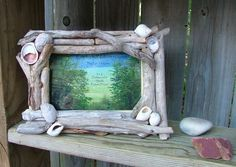 Driftwood Picture Frame 4 x 6 with by CapturedNaturescapes on Etsy