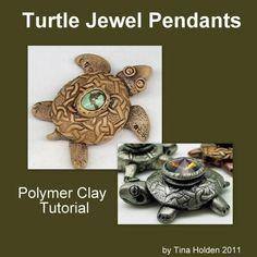 Turtle Jewel Pendant Tutorial - Polymer Clay