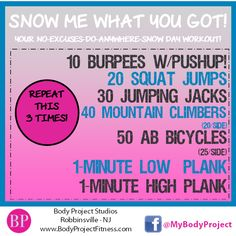 At-home workout...perfect for a snow day!