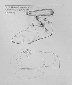 Medieval viki g shoes pattern Viking Dress, Viking Costume, Medieval Costume, Viking Shoes, Viking Clothing, Historical Clothing, Costume Patterns, Sewing Patterns, Medieval Boots
