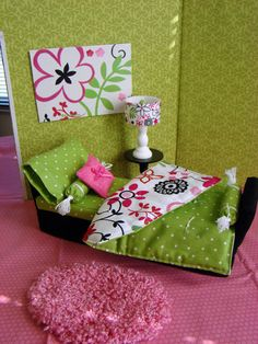 Barbie Furniture - Great inspiration for Girls barbie house I'm making.