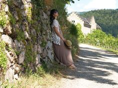 Strangeness and Charms: SHOOTING: dreaming of summer - crochet cardigan & brown maxi dress.