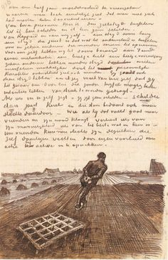 Letter from Vincent van Gogh to Theo van Gogh, Nieuw-Amsterdam, Sunday, 28 October 1883 Artist Van Gogh, Van Gogh Art, Art Van, Theo Van Gogh, Vincent Van Gogh, Monet, Desenhos Van Gogh, Van Gogh Drawings, Grafik Art