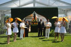 Boxwood arched entry way - The Veuve Clicquot Polo Classic VIP Tent entrance