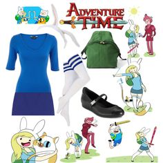 """Adventure Time With Fiona And Cake"" by irollwithit on Polyvore"