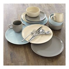 Camden Stone Dinnerware from Crate & Barrel - love all 3 colors - only $22.95 for a 4 piece place setting