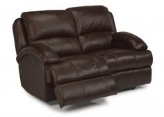 Fast Lane Leather Power Reclining Loveseat 1242-60P in 796-70