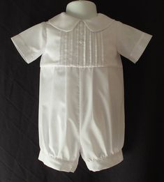 68635515aac Baby Reborn Boy Christening Gown  Baptism Outfit Romper Size NB 3 6 12  Months