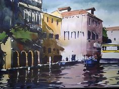 Vaporetto ferry station in Venice (somewhere on the Grand Canal) by Tim Wilmot