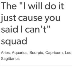 "The ""I will do it just cause you said I can't"" squad 