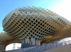 Kerto LVL has been used to build the Parasol Metropol - one of the largest wooden buildings in the world. See how the incredible building has been made! Timber Buildings, Timber Structure, Higher Design, Modern Materials, Wood Construction, Wood Projects, Skyscraper, Architecture, World