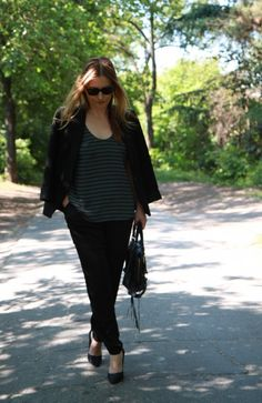 #street #style #blazer #balenciaga #black