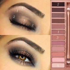 Makeup Over Meaning Eyeshadow Looks, Eyeshadow Makeup, Lip Makeup, Makeup Cosmetics, Beauty Makeup, Makeup Art, Urban Decay Eyeshadow, Eyeshadows, Eye Makeup Steps