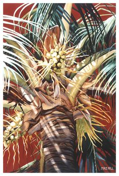 Hawaiian Fireworks Painting by Mike Hill - Hawaiian Fireworks Fine Art Prints and Posters for Sale