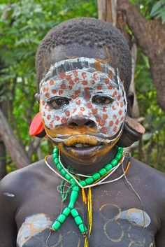 Africa | a Surma child, Omo Valley, Ethiopia | © Jeremy Curl
