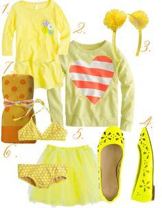 yellow valentine's little girls clothes