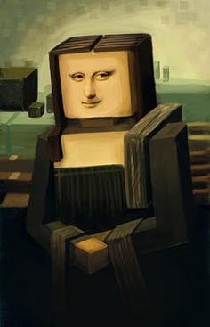 Minecraft Mona Lisa! :D what the heak!!!!!!!!!!!!!!!!!!!!!!!!!!!!!!!!!!!!!!!!!!!!!!!!!!!!!