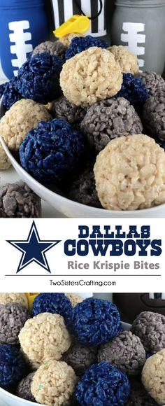 Dallas Cowboys Rice Krispie BItes