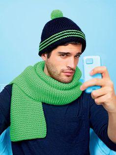 Men's Knit Pom Hat   AllFreeKnitting.com