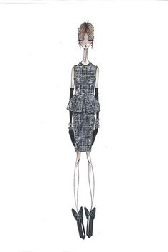 Fashion design sketch for MSGM