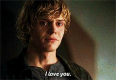 Evan Peters: because homicidal, dead, clingy boyfriends are hot Evan Peters Gif, Even Peters, Tate And Violet, Peter Maximoff, Series Movies, Beautiful Boys, Beautiful People, Horror Stories, Celebrity Crush