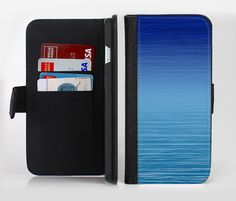 The Calm Water lnk-Fuzed Leather Folding Wallet Case For the