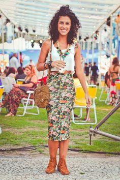 Looks com estampas florais :: pine agora, leia depois ;) Mais looks em http://modices.com.br/das-ruas