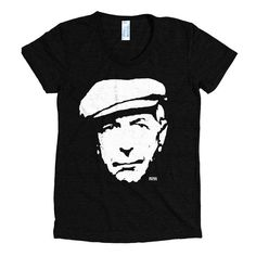 Leonard Cohen T-shirt, Womens Tri Blend Tshirt, Music Shirt, Personalized Wife Gift, Custom Girlfriend Gift, Cohen Fan Gifts, Ships From USA