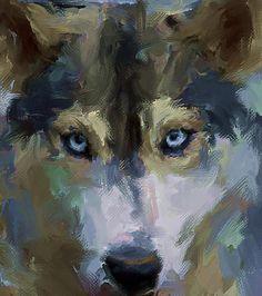 Wolf Eyes Digital Art