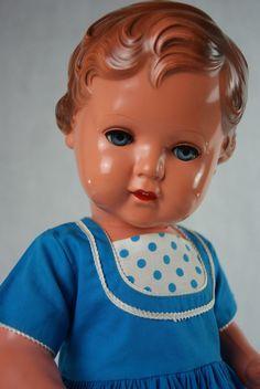 Schildkröt Puppe Erika 49cm alt antik 50er Jahre Celluloid Zelluloid | eBay