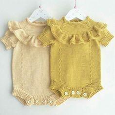 💛💛Paylaşımlar fikir amaçlıdır ürünler bana ait değildir ürünlerin hiçbiri satılık değildir !! My Baby Girl, Bebe Baby, Layette, Knitted Romper, Knitted Baby Clothes, Knit Baby Dress, Knitting For Kids, Baby Knitting Patterns, Baby Patterns
