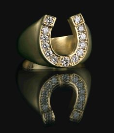 Entrance to Heaven, Horseshoe Ring, Yellow Gold #entrancetoheaven #etoh #ring #horseshoe #yellowgold http://www.entrance-to-heaven.com/#products/horseshoe