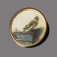 Brooch/Pendant: The Goldfinch | The Frick Collection #girlatthefrick