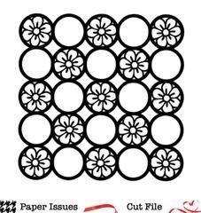 Floral Circle Grid Free Cut File