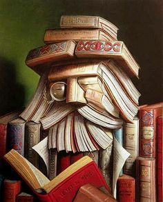 Ritemail: Creative Crafts of Old books - Just had to use this as my cover for Books worth reading I Love Books, Books To Read, Reading Books, Happy Reading, Giuseppe Arcimboldo, Dom Quixote, Old Books, Idea Books, Illustrations